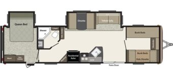 layout of Deluxe Bunkhouse Trailer